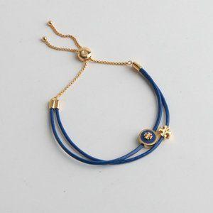 Tory Burch Enamel Glaze Logo Double PU Bracelet